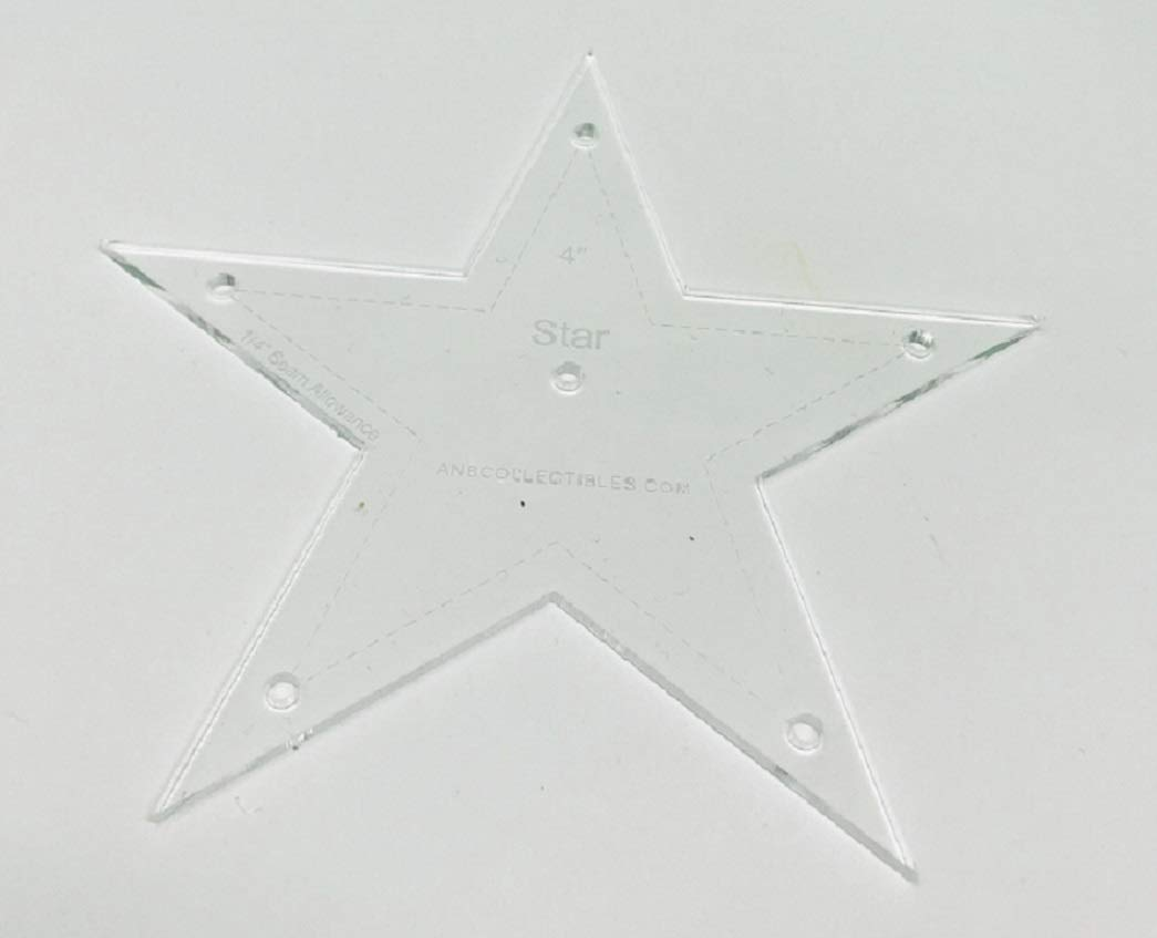 Choice of Size Acrylic Star Quilt Template 7