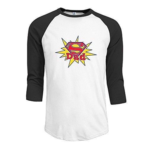 Yarn Blake (LBGN Men's 3/4 Sleeve Baseball Super Dad T Shirt Running Black M)