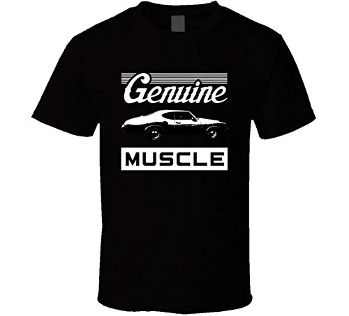 1970 Oldsmobile Cutlass 442 W30 B and W Genuine Muscle Car T Shirt ()