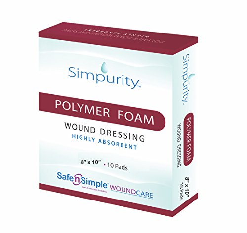 Safe n' Simple High Absorbent Polymer Dressing, 8x10 Inch, 10 Count