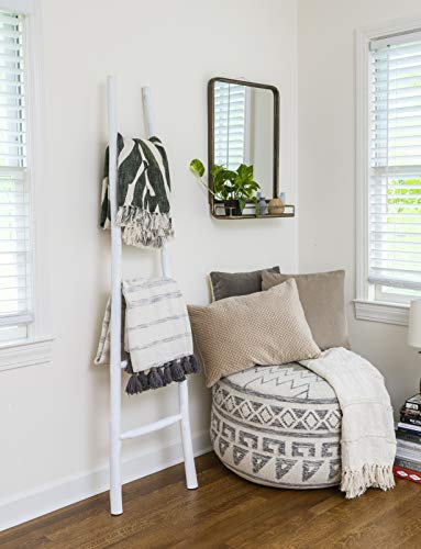 Creative Co-op DA1901 Decorative Painter Wood Blanket Ladder, White
