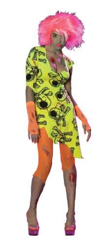 [Rubie's Costume Haunted Rave Light Activated Toxic Zombabe Costume, Orange, Small] (Radioactive Zombie Costume)