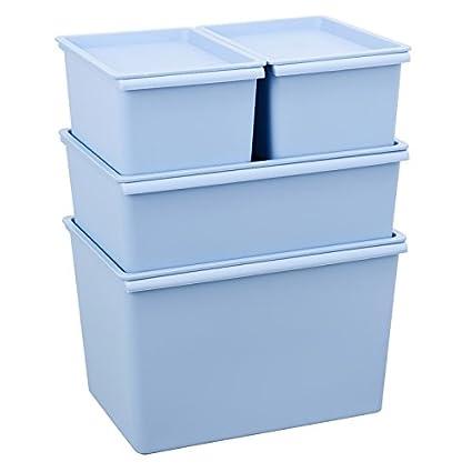 CUPWENH Caja De Almacenamiento, Tapa De Plástico, Cuadro De Clasificación, Escritorio, Grandes