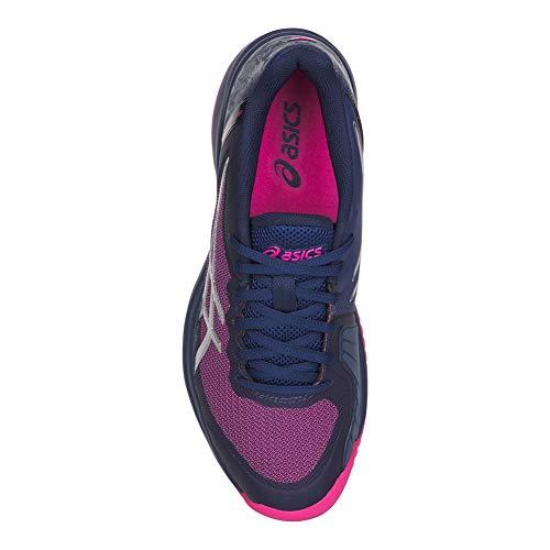 De Pour Chaussures Asics Glo Print Blue court pink Femme Gel Sport En a5xpx