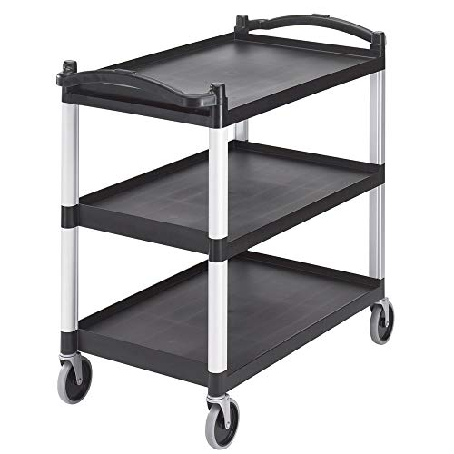 Cambro BC340KD-110 Black Knockdown Utility Cart