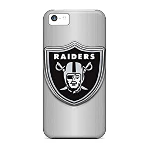 Customcases88 Apple Iphone 5c Shock-Absorbing Hard Cell-phone Case Support Personal Customs Nice Oakland Raiders Pattern [FMM7181BRbl]