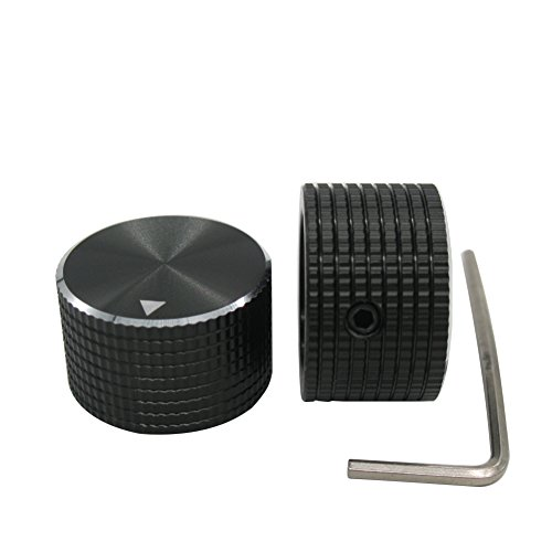 Potentiometer Knobs - Taiss / 2Pcs 25 mmx15 mm 6.4mm / 0.25