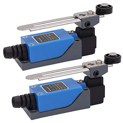 2Pcs ME-8108 Adjustable Roller Lever Arm arduino Limit Switch NC-NO CNC Mill Router