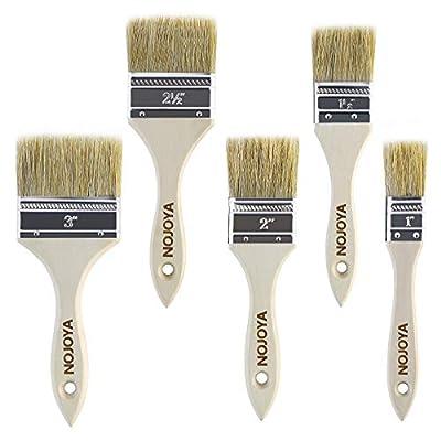 Paint Brushes, 5 Piece Professional Paint Brushes Set, Chip Paint Brush by NOJOYA