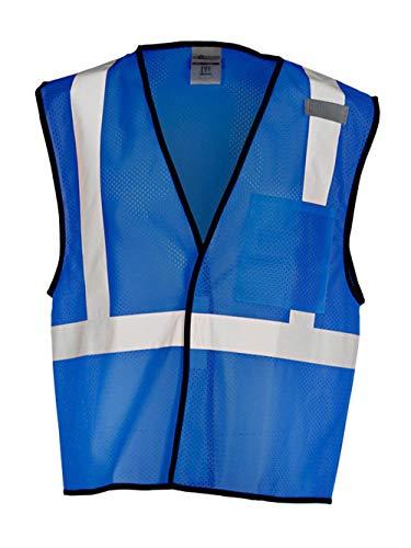 ML KISHIGO Enhanced Visibility Royal Blue Mesh Vest B121 (L-XL)