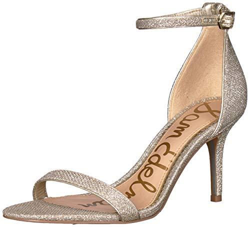 (Sam Edelman Women's Patti Heeled Sandal, Jute Glam Mesh, 8 M US)