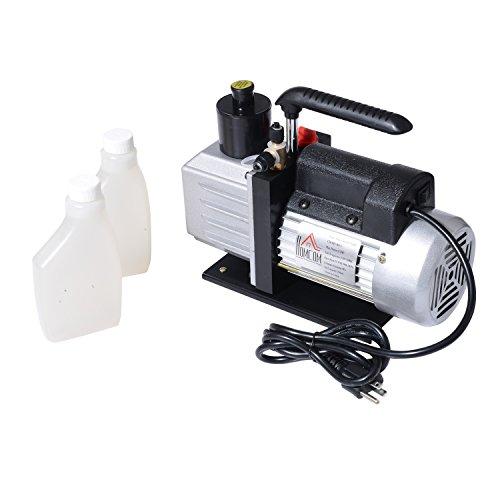 HomCom Single Stage 7 CFM Rotary Vane 1/2 HP HVAC Refrigerant Vacuum Pump by HOMCOM (Image #6)