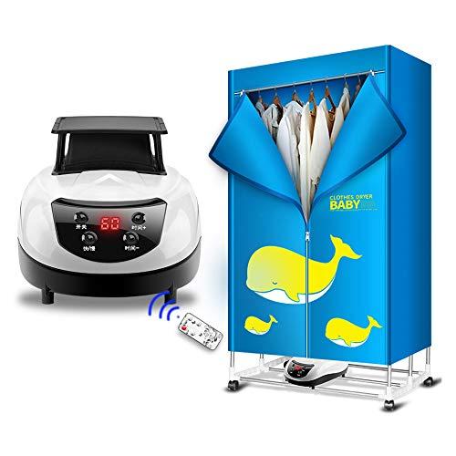 YJDQGYJ Faltbar Wäschetrockner,Tragbar Elektrisch Trockner,Intelligent Fernbedienung Trocknende Garderobe,Haushalt Stumm…