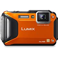 Panasonic Lumix DMC-TS5 16.1 MP Tough Digital Camera with 9.3x Intelligent Zoom (Orange) (Discontinued by Manufacturer)