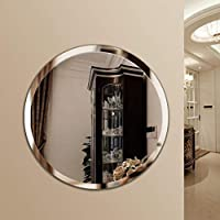Quality Glass Frameless Round Mirror   Mirror for Wall   Mirror for Bathrooms   Mirror for Home   Mirror Decor   Mirror Size : 24 x 24 inch.