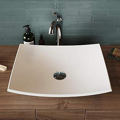 Kraus KSV-6MW Natura Bathroom Sink Round White 16.4 Inch