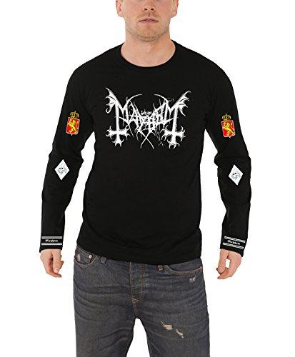 Mayhem Legion Norge Official Mens New Black Long Sleeve T Shirt