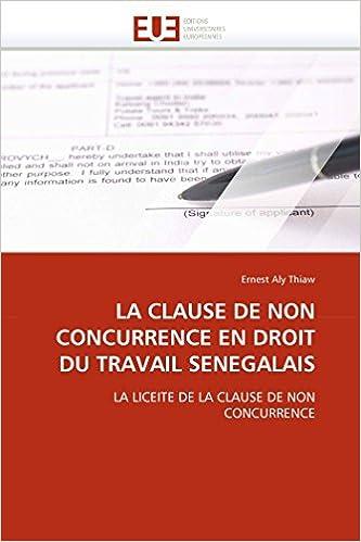 Clause De Non Concurrence En Droit Du Travail La Amazon Ca E