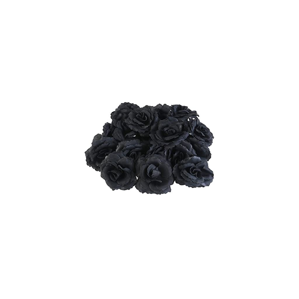 WINOMO-20pcs-Silk-Rose-Flower-Heads-for-Party-Home-Decoration-Black