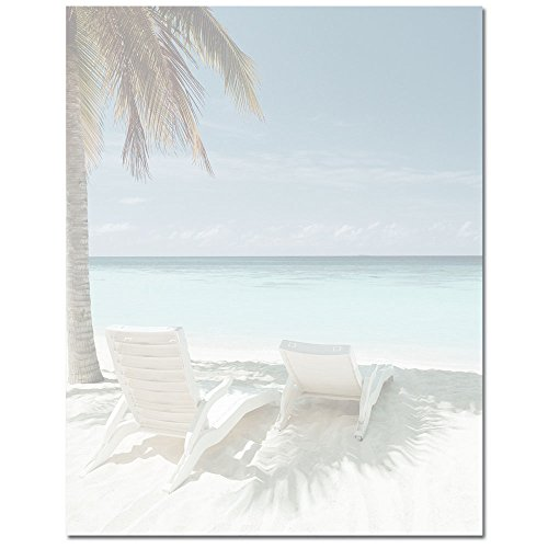 beach and palm tree stationery office supplies general supplies