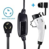 Zencar Level 2 EV Charger(240V, 16A, 25ft), Portable EVSE Home Electric Vehicle Charging Station Compatible with Chevy Volt, Nissan Leaf, Fiat, Ford Fusion(NEMA 10-30 Plug)