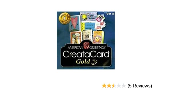 Amazon american greetings creatacard gold 5 software m4hsunfo