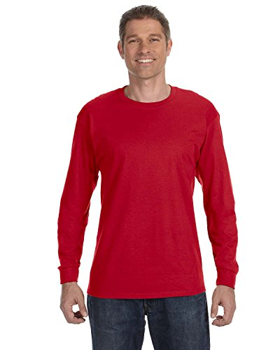 oft Long Sleeve Crewneck T-Shirt, Deep Red, Small ()