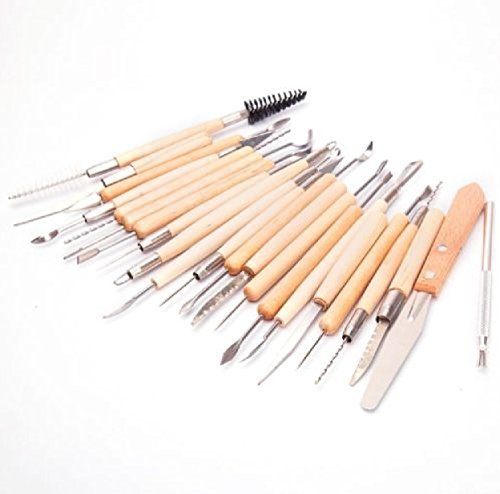 22PCS Clay Sculpture Hobby Tools : NEW Pottery Sculpting Carving Modelling Ceramic (Halloween Cutouts For Pumpkin Carving)