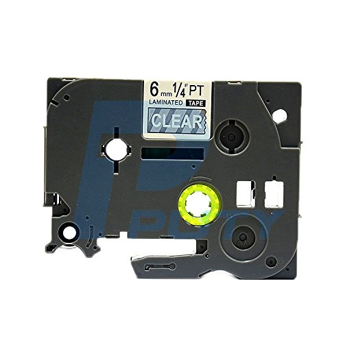 IDIK 1PK White on Clear Standard Laminated Label Tape Compatible for Brother P-Touch TZe-115 TZ115 TZe115(6mm x 8m)