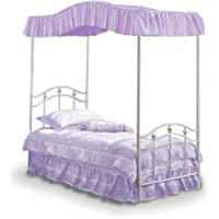 Full Size Fantasy Eyelet Lavender Canopy Top Fabric