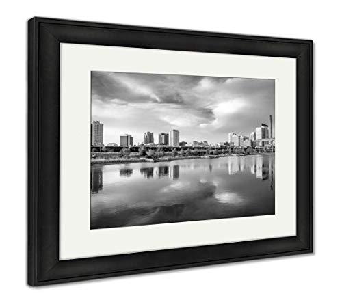 (Ashley Framed Prints Birmingham, Alabama, USA, Wall Art Home Decoration, Black/White, 26x30 (Frame Size), Black Frame, AG32675321)