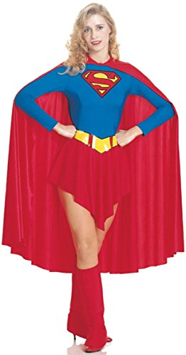 UHC Women's Dc Comics Supergirl Outfit Adult Fancy Dress Halloween Costume, M (8-10)
