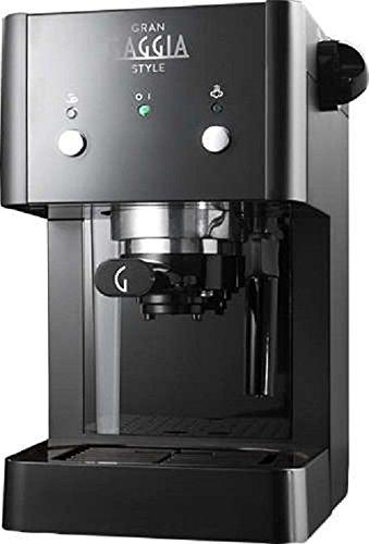 Gaggia GranGaggia Style Black Macchina Manuale per il Caffè Espresso, per Macinato e Cialde, 15 bar, Colore Nero, RI8423… 1