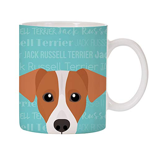 Jack Russell Rough - Adorable Dog Breed Specific 11oz Ceramic Coffee Mug (Jack Russell Terrier)