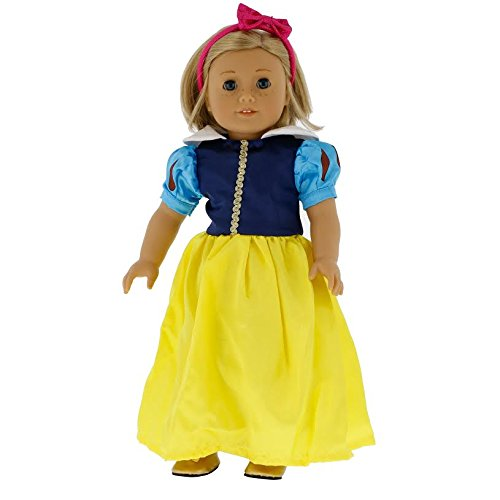 Snow White Inspired Doll Clothes for 18