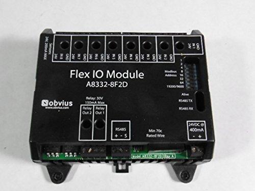 (Obvius A8332-8F2D Flex I/O Module, 8 User-Selectable Inputs (Pulse, Analog, Resistive), 2 Digital Outputs, Modbus RS-485)