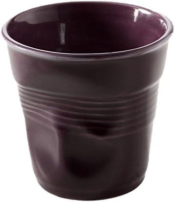 Revol Crumpled Espresso Cup Porcelain Black 6.5 x 6.5 x 6 cm