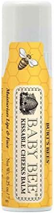Burt's Bees Baby Kissable Cheeks Balm, 100% Natural Baby Moisturizer - 0.25 Ounce Balm