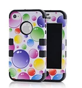 iphone covers New Fashion Case 3in1 Colorful Bubbles Hybrid Cover case cover Suitable Fit For iPhone j1HrAi9W4Xw 6 plus Black
