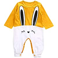 2018 New Cute Newborn Baby Girls Boys Romper, Rabbit Print Jumpsuit Casual Sleepwear Playsuit Outfits Clothes