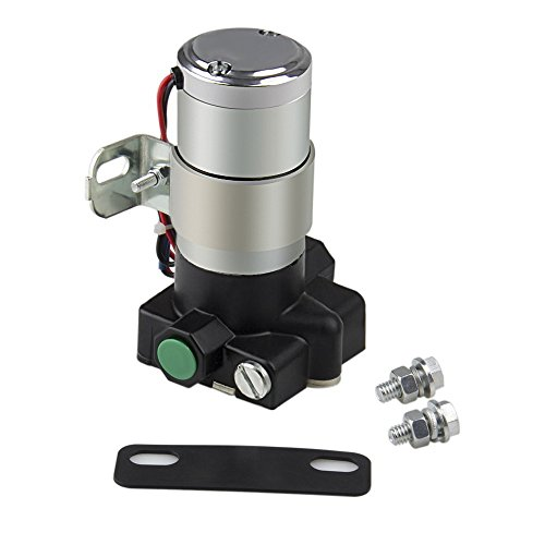 Bang4buck High Flow Universal Electric Fuel Pump 95 Gallon Per Hour 7-14 Psi for Chevrolet, Ford, Chrysler etc.- Inlet and Outlet 3/8 Inch Diesel Gasoline Lift Pump (95P)