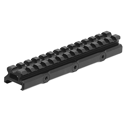 UTG Leapers MT-RSX20MOA Inc Super Slim 20 MOA Elevated Picatinny Mount, 13 Slot, Black ()