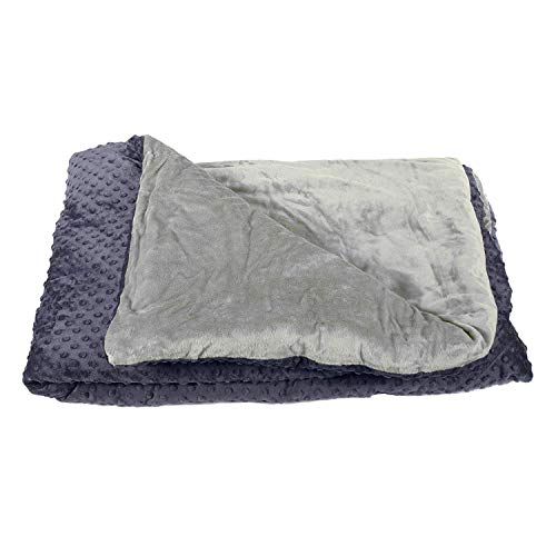 Harkla Weighted Blanket for Adults (15lbs) - Help with Sleep, Anxiety, Autism or Sensory Processing Disorder - Perfect for Those who weigh 100 to 150-pounds - Price Include Duvet Cover & Weight
