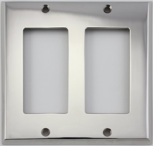 Polished Nickel 2 Gang GFI/Rocker Opening Wall Plate by Classic Accents