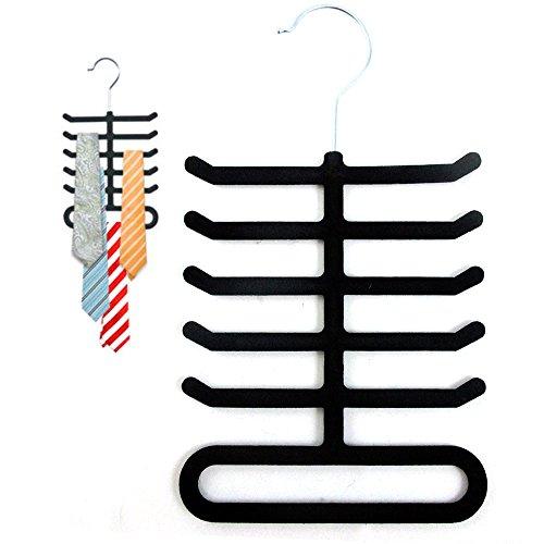 Velvet Nonslip Necktie Hanger Organizer