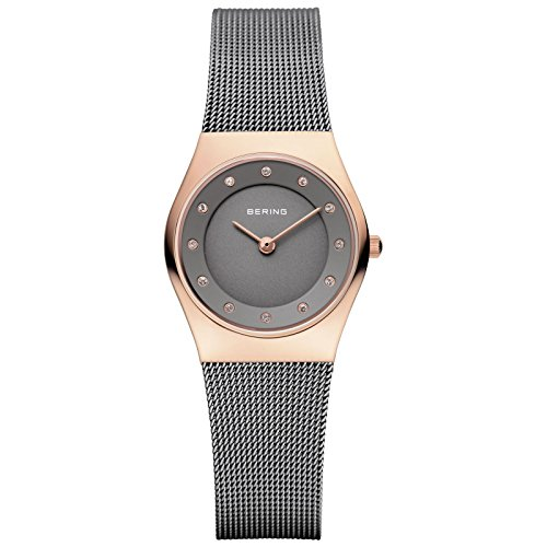 BERING Time 11939-777 Woman's Classic Collection Watch with Mesh Band and scratch resistant sapphire crystal. Designed in Denmark.