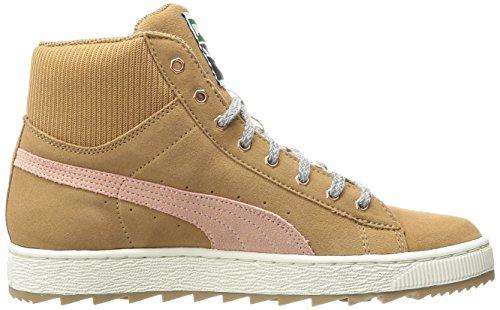 PUMA Womens Classic Suede Fashion Sneaker Chipmunk Brown/Coral Cloud Pink 5SS7XCnYAI