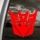 DECEPTICONS TRANSFORMERS Red Decal Truck Window Red Sticker