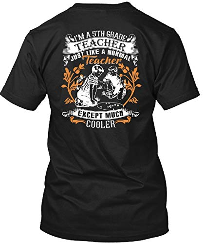 TIGER-KEY I'm A 5Th Grade Teacher T Shirt, Teacher Except Much Cooler T Shirt Unisex (XXL,Black)]()