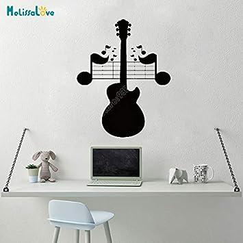 Diseño creativo Guitarra Música Nota Pulso Entusiasta de la música ...